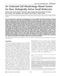 Plos Biology : an Unbiased Cell Morpholo... by Misteli, Tom