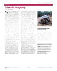 Plos Biology : Scientifi C Longevity, Vo... by Hemai, Parthasarathy