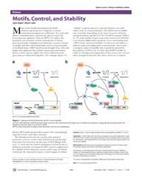Plos Biology : Motifs, Control, and Stab... by Doyle, John