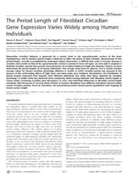 Plos Biology : the Period Length of Fibr... by Mignot, Emmanuel