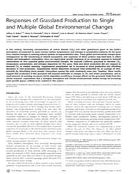 Plos Biology : Responses of Grassland Pr... by Loreau, Michel