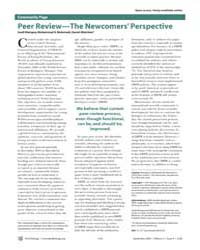 Plos Biology : Peer Review—the Newcomers... by Mainguy, Gaell
