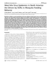 Plos Biology : West Nile Virus Epidemics... by Ostfeld, Rick