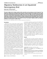 Plos Biology : Migratory Restlessness in... by Alerstam, Thomas