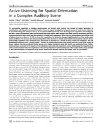 Plos Biology : Active Listening for Spat... by Pollak, George