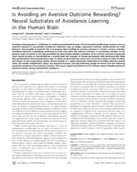 Plos Biology : is Avoiding an Aversive O... by Gallagher, Michela