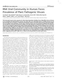 Plos Biology : Rna Viral Community in Hu... by Dangl, Jeffrey