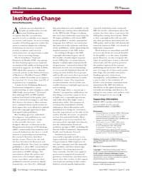 Plos Biology : Instituting Change, Volum... by Parthasarathy, Hemai