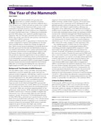Plos Biology : the Year of the Mammoth, ... by Cooper, Alan
