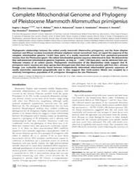 Plos Biology : Complete Mitochondrial Ge... by Penny, David