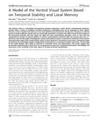 Plos Biology : a Model of the Ventral Vi... by Abbott, Larry