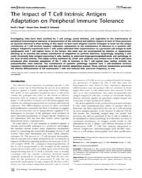 Plos Biology : the Impact of T Cell Intr... by Marrack, Philippa
