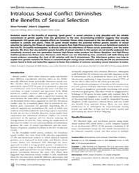 Plos Biology : Intralocus Sexual Conflic... by Noor, Mohamed