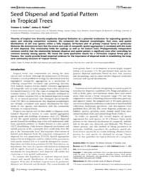 Plos Biology : Seed Dispersal and Spatia... by Nathan, Ran