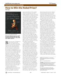 Plos Biology : How to Win the Nobel Priz... by Agre, Peter