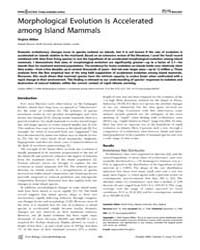Plos Biology : Morphological Evolution i... by Penny, David