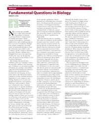 Plos Biology : Fundamental Questions in ... by Levin, Simon A.