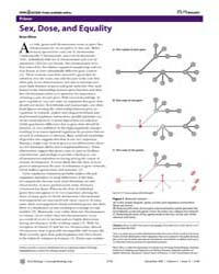 Plos Biology : Sex, Dose, and Equality, ... by Oliver, Brian