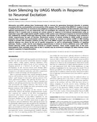 Plos Biology : Exon Silencing by Uagg Mo... by Wickens, Marv