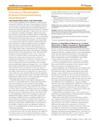 Plos Biology : Evolution is Accelerated ... by Pérez-claros, Juan Antonio