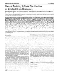 Plos Biology : Mental Training Affects D... by Rugg, Mick D.