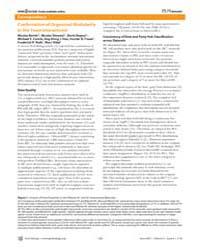 Plos Biology : Confirmation of Organized... by Bertin, Nicolas