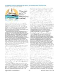 Plos Biology : Untapped Bounty ; Samplin... by Gross, Liza