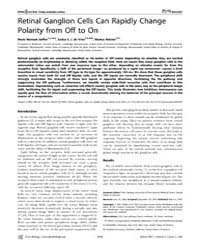 Plos Biology : Retinal Ganglion Cells Ca... by Sterling, Peter