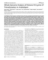 Plos Biology : Whole-genome Analysis of ... by Carrington, James C.