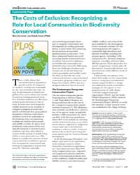 Plos Biology : the Costs of Exclusion ; ... by Ancrenaz, Marc