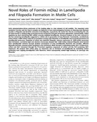 Plos Biology : Novel Roles of Formin Mdi... by Pellman, David
