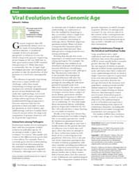 Plos Biology : Viral Evolution in the Ge... by Holmes Edward C.