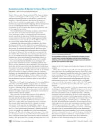 Plos Biology : Autoimmunity ; a Barrier ... by Gross, Liza