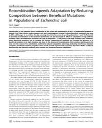 Plos Biology : Recombination Speeds Adap... by Barton, Nick H.