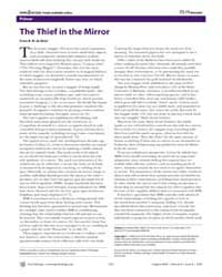 Plos Biology : the Thief in the Mirror, ... by De Waal, Frans B. M.