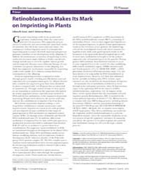 Plos Biology : Retinoblastoma Makes Its ... by Costa, Liliana M.