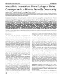 Plos Biology : Mutualistic Interactions ... by Elias, Marianne