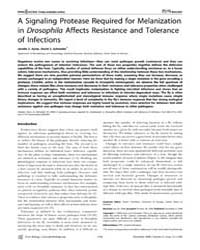 Plos Biology : a Signaling Protease Requ... by Ayres, Janelle S.