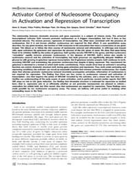 Plos Biology : Activator Control of Nucl... by Bryant, Gene O.
