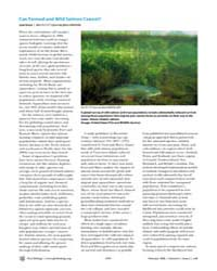 Plos Biology : Can Farmed and Wild Salmo... by Gross, Liza