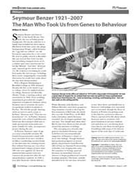 Plos Biology : Seymour Benzer 1921–2007t... by Harris, William A.