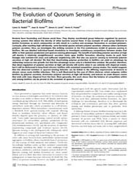 Plos Biology : the Evolution of Quorum S... by Nadell, Carey D.