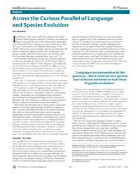 Plos Biology : Across the Curious Parall... by Whitfield, John