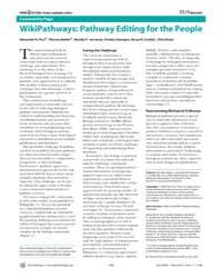 Plos Biology : Wikipathways ; Pathway Ed... by Pico, Alexander R.