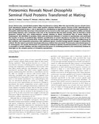 Plos Biology : Proteomics Reveals Novel ... by Findlay, Geoffrey D.