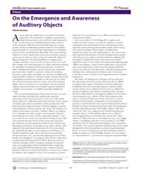 Plos Biology : on the Emergence and Awar... by Shamma, Shihab
