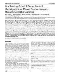 Plos Biology : Hox Paralog Group 2 Genes... by Geisen, Marc J.