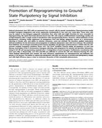 Plos Biology : Promotion of Reprogrammin... by Silva, Jose