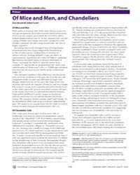 Plos Biology : of Mice and Men, and Chan... by Woodruff, Alan