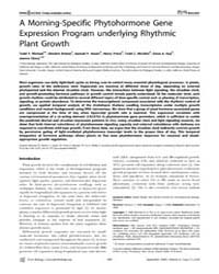 Plos Biology : a Morning-specific Phytoh... by Michael, Todd P.